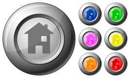 Casa del botón de la esfera stock de ilustración