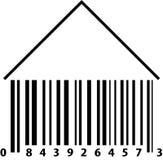 Casa del código de barras fotografía de archivo