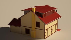 Casa del camino Immagine Stock