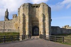 Casa del cancello del castello di Warkworth Fotografie Stock