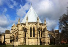 Casa del capítulo, catedral de Lincon, Lincolnshire fotos de archivo libres de regalías