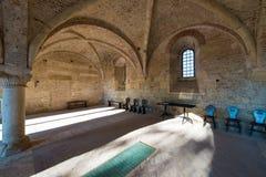 Casa del capítulo dentro de la abadía de San Galgano, cerca de Siena, Tusca Imágenes de archivo libres de regalías