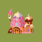 Casa del caramelo de la fantasía Vector Illustartion ilustración del vector
