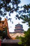 Casa del chino tradicional; Foto de archivo