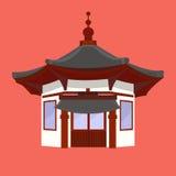 Casa del chino tradicional con las linternas típicas Fotos de archivo libres de regalías