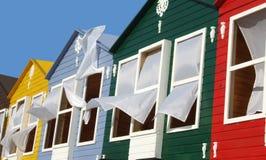 Casa del color Imagen de archivo