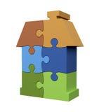 Casa del color del rompecabezas Fotografía de archivo libre de regalías
