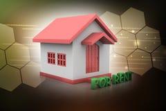 Casa del concepto de las propiedades inmobiliarias para el alquiler Fotografía de archivo libre de regalías