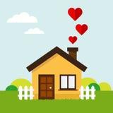 Casa del corazón del amor Foto de archivo