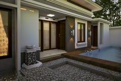 Casa del cortile posteriore royalty illustrazione gratis