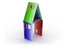 Casa del crédito ilustración del vector