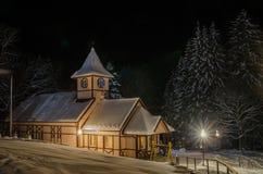 Casa del cuento de hadas del invierno Imágenes de archivo libres de regalías