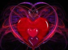 Casa del cuore Fotografia Stock Libera da Diritti