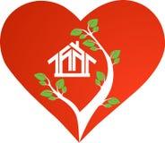 Casa del cuore Fotografia Stock
