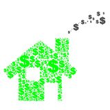 Casa del dólar ilustración del vector