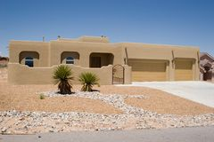 Casa del deserto immagine stock