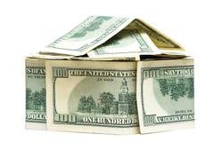 Casa del dinero aislada Imagenes de archivo