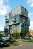 Casa del distretto di Pasilaiciai della città di Vilnius nuova Immagine Stock
