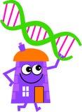 Casa del DNA Immagine Stock