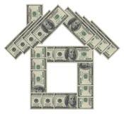 Casa del dollaro immagini stock libere da diritti