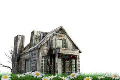 Casa del dollaro isolata su bianco fotografie stock
