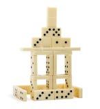 Casa del dominó aislada Foto de archivo