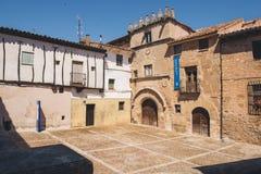Casa del Doncel在Siguenza 图库摄影