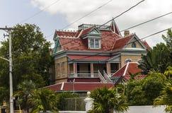 Casa del estilo del victorian de Key West Fotografía de archivo