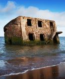 Casa del fantasma en el agua Fotos de archivo libres de regalías