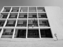 Casa Del Fascio in Como in Schwarzweiss Lizenzfreie Stockfotografie
