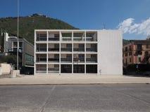 Casa del Fascio dans Como Photo stock
