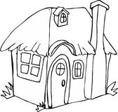 Casa del fatato di stile di scarabocchio Fotografie Stock