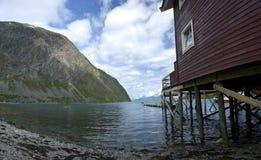 Casa del fiordo fotografia stock libera da diritti
