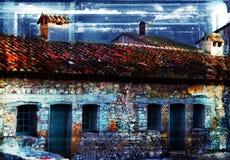 Casa del francés de Grunge Foto de archivo