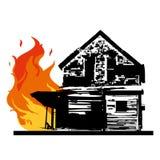 Casa del fuego ilustración del vector