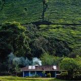 Casa del fumo nel Kerala India immagine stock
