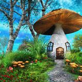 Casa del fungo Fotografia Stock Libera da Diritti