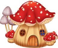 Casa del fungo dell'illustrazione del fumetto Immagine Stock Libera da Diritti