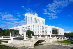 Casa del gobierno de la Federación Rusa Foto de archivo libre de regalías