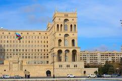 Casa del gobierno de la república de Azerbaijan Fotografía de archivo