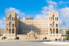 Casa del gobierno de la república de Azerbaijan Fotos de archivo libres de regalías