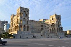 Casa del gobierno en Baku Imagen de archivo libre de regalías