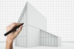 Casa del gráfico de la mano Foto de archivo