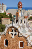 Casa del Guarda Details in Park Guell Royalty Free Stock Photography
