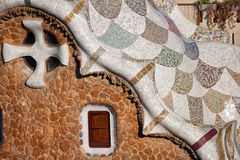Casa del Guarda Details in Park Guell Royalty Free Stock Images