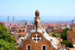 Casa del Guarda - Gaudi - Park Guell stock photography