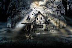 Casa del horror Imágenes de archivo libres de regalías