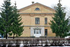 Casa del intercambio de trabajo de la ciudad de Vilna en la ciudad de Nord del distrito de Zirmunai Fotografía de archivo