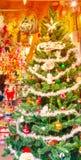 Casa del interior del árbol de navidad Imágenes de archivo libres de regalías