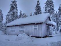 Casa del invierno Fotografía de archivo
